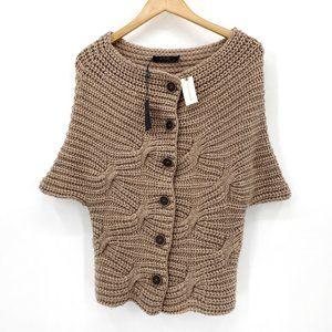 Anthro Raffi Wool Dolman Short Sleeve Cardigan NWT